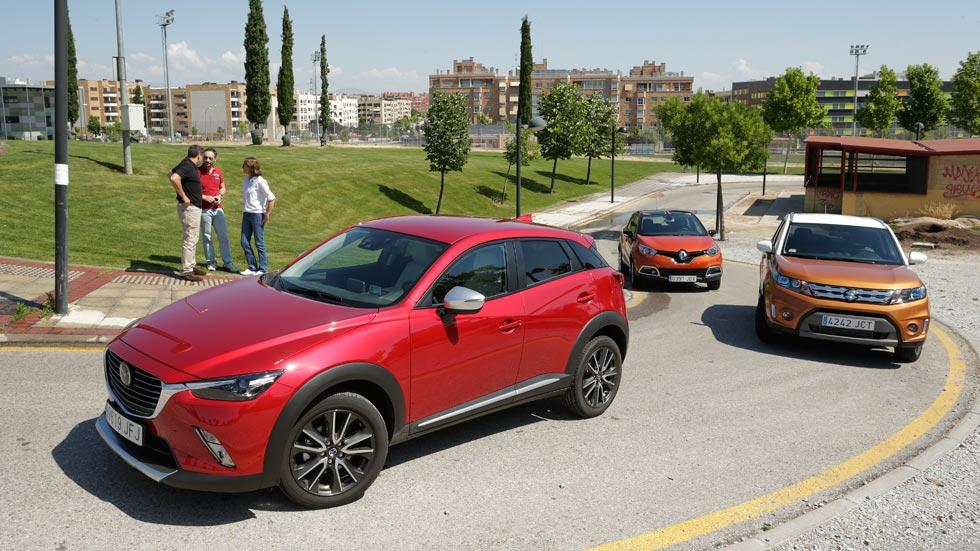 Mazda CX-3 frente a Renault Captur y Suzuki Vitara