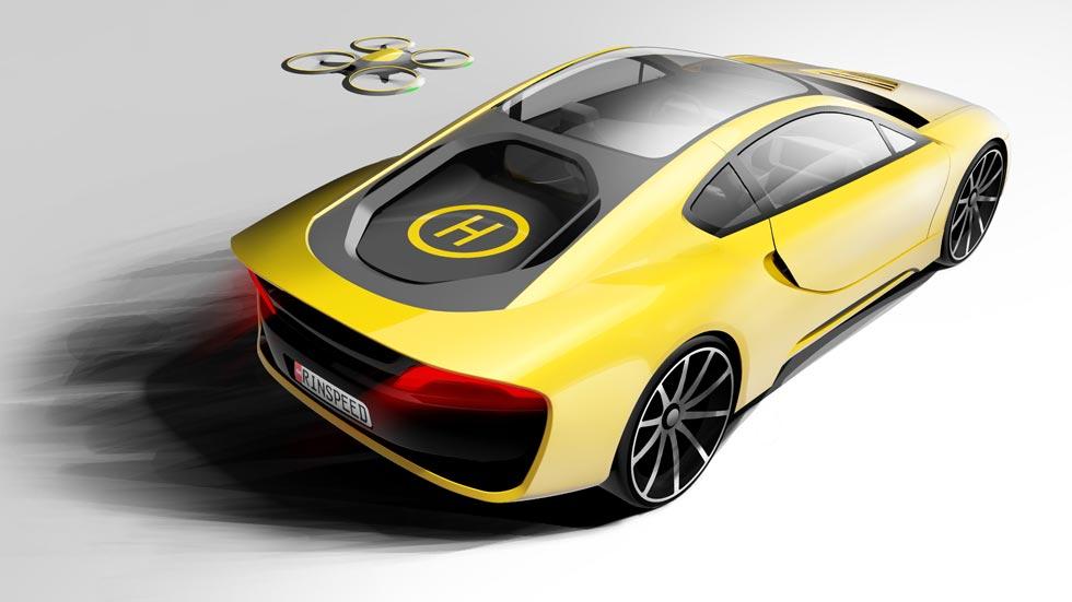 Rinspeed Σtos: autónomo, con dron y pista de aterrizaje