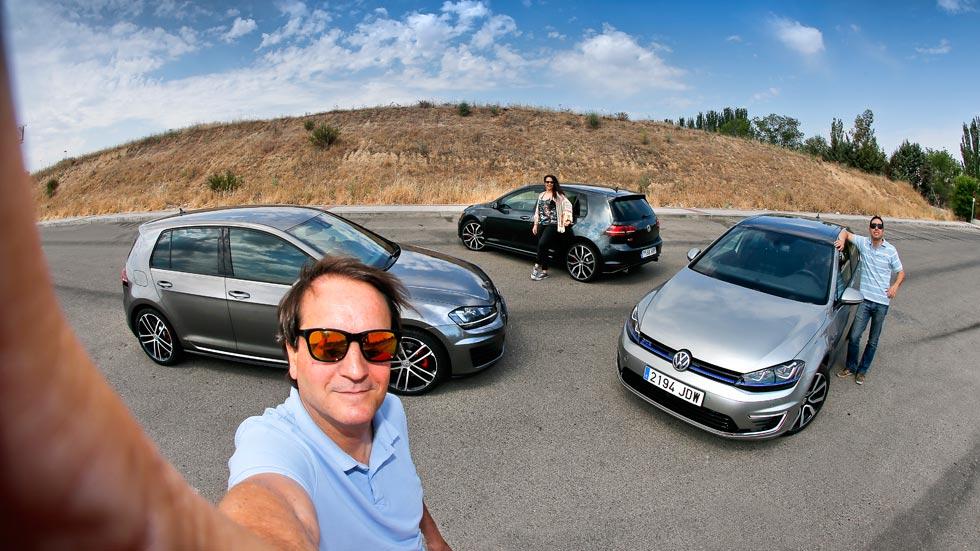 Volkswagen Golf GTI contra Golf GTD y Golf GTE