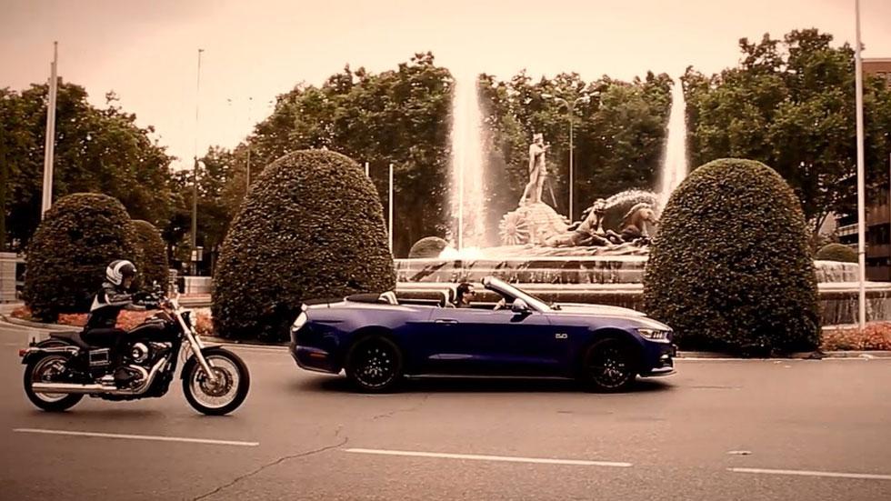 Ford Mustang y Harley-Davidson, amor americano en Madrid (vídeo)