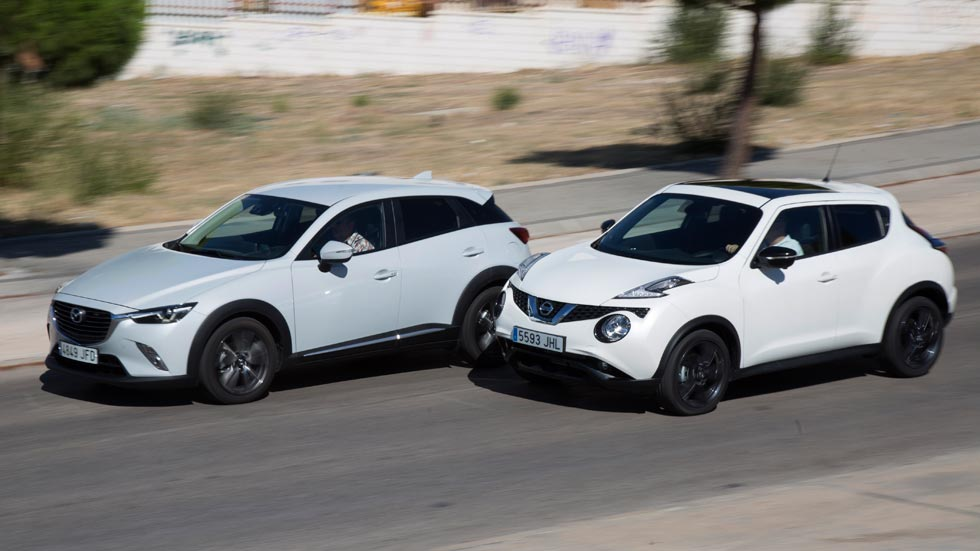 Mazda CX-3 1.5D 105 2WD contra Nissan Juke 1.5 dCi 110 4x2