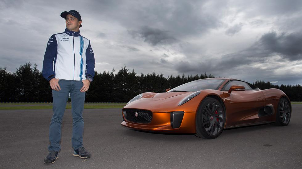 Felipe Massa, al volante del Jaguar C-X75 de James Bond (vídeo)