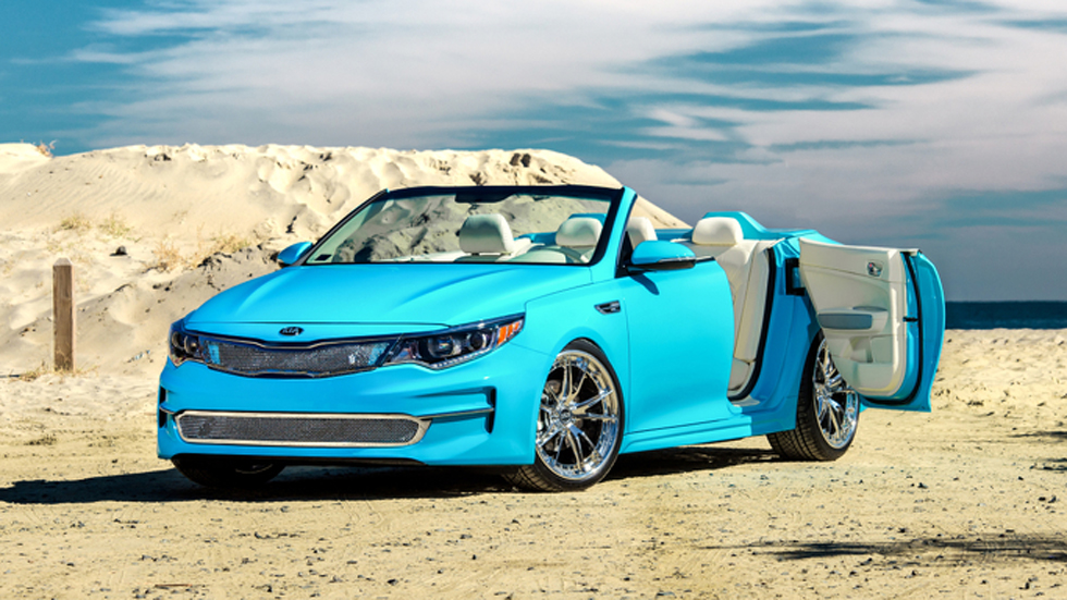 Kia Optima, descapotable y tuneado para el SEMA 2015