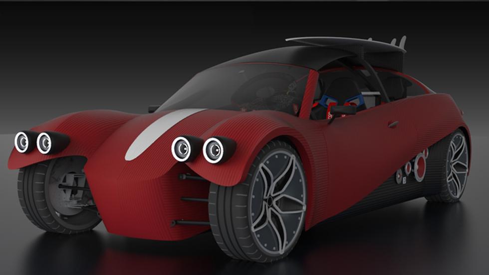 Local Motors LM3D Swim, el primero coche eléctrico de impresión 3D