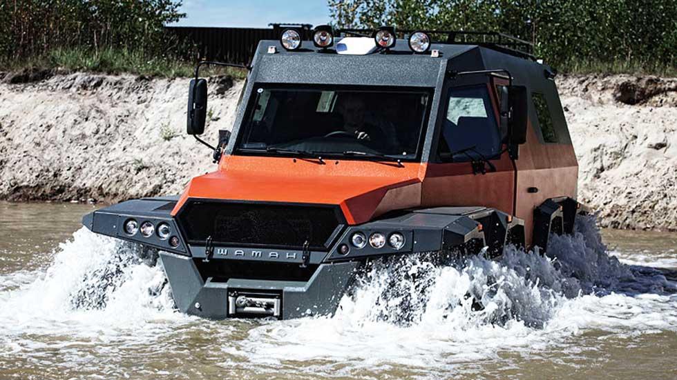 Avtoros Shaman 8x8 ATV: el vehículo anfibio más brutal