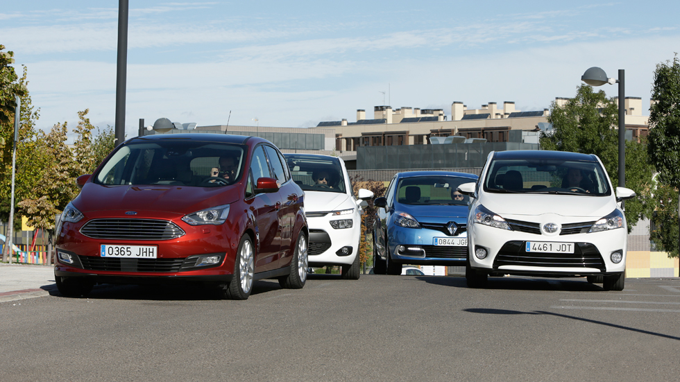 Citroën C4 Picasso contra Ford C-Max, Renault Scénic y Toyota Verso