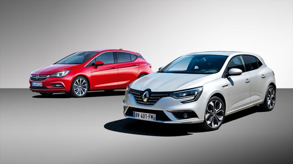 Opel Astra y Renault Mégane, duelo de nuevos compactos