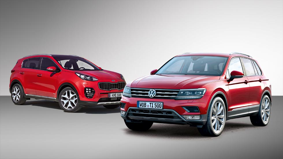 Kia Sportage vs Volkswagen Tiguan, duelo de nuevos SUV
