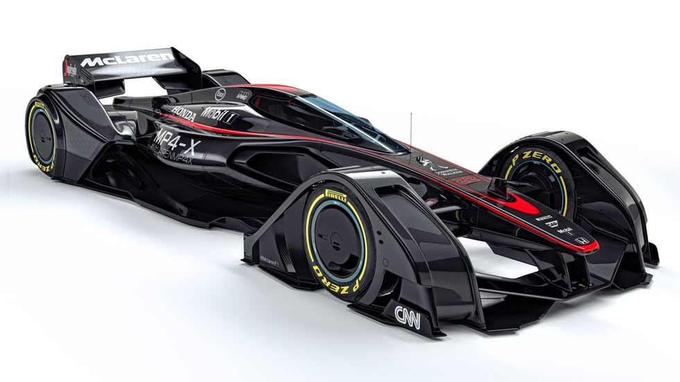 McLaren MP4-X, el coche de la Fórmula 1 del futuro