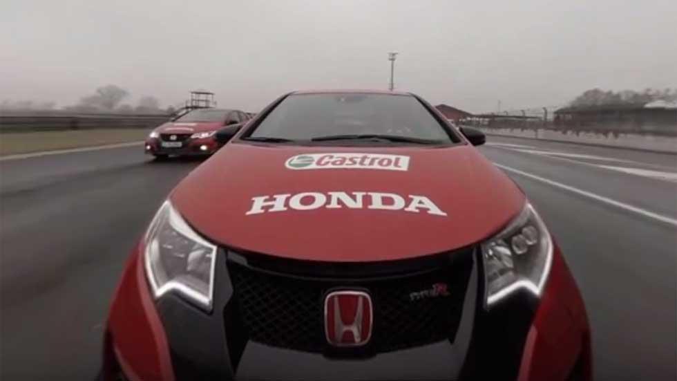 Honda: moto de MotoGP y Honda Civic Type R, juntos en vídeo