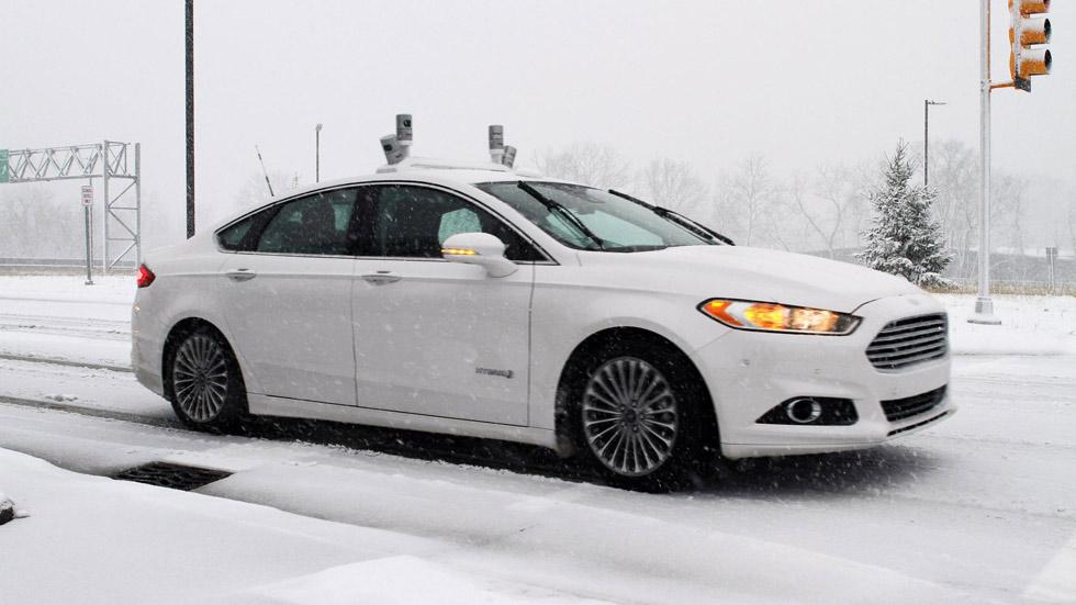 Primeras pruebas de Ford con coches autónomos en la nieve