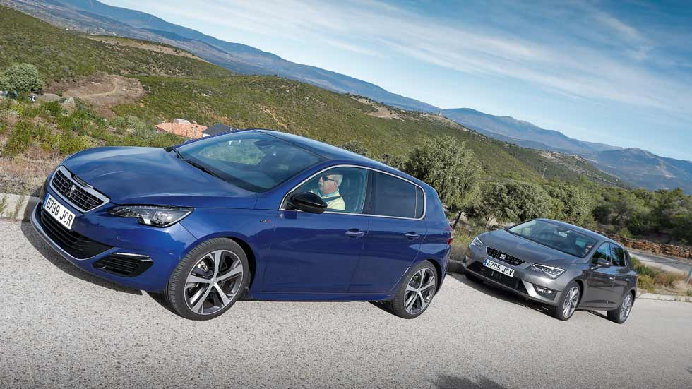 peugeot 308 gt 2 0 bluehdi 180 vs seat le n fr 2 0 tdi 184 gti diesel. Black Bedroom Furniture Sets. Home Design Ideas