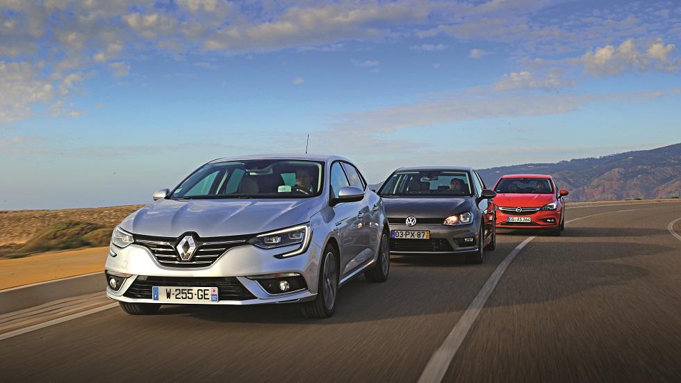 Renault Mégane 2016 1.6 dCi 130 frente a Opel Astra y Volkswagen Golf