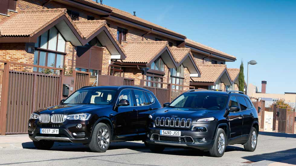BMW X3   20d 190 xDrive 5p Aut. vs Jeep Cherokee   2.2 MJD-200 Limited
