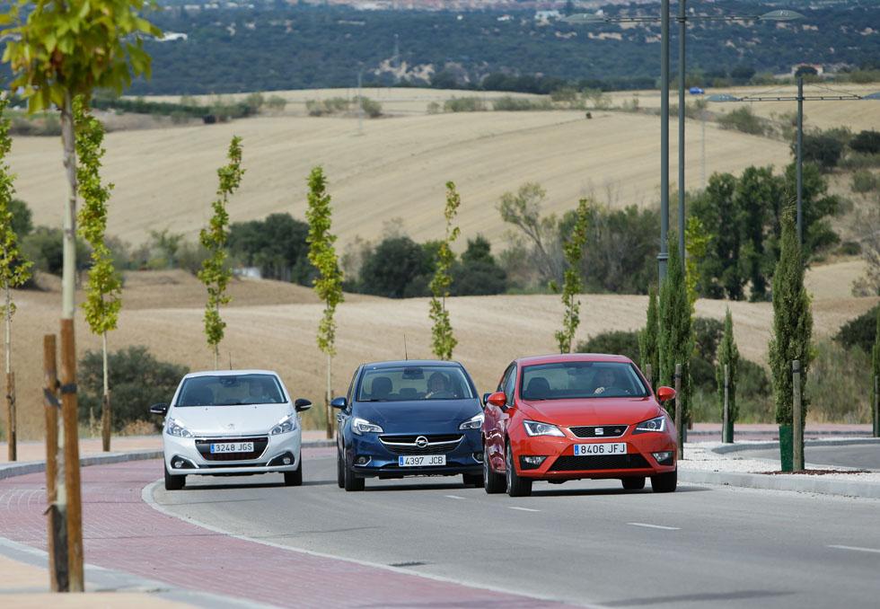 Opel Corsa, Peugeot 208 y Seat Ibiza: los mejores de su clase