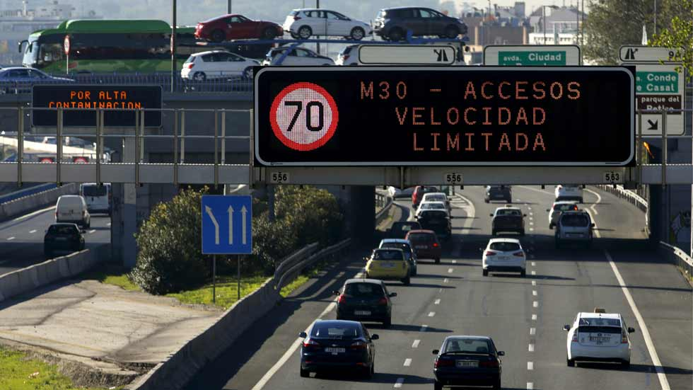 Entra en vigor el protocolo anticontaminación en Madrid. ¿Qué restricciones hay?