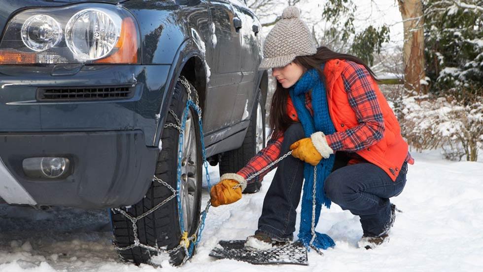 Dudas: ¿en qué ruedas deben ir colocadas las cadenas para la nieve?