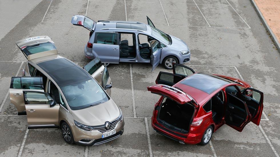 Ford S-MAX, Renault Espace y Seat Alhambra: grandes monovolúmenes de 7 plazas