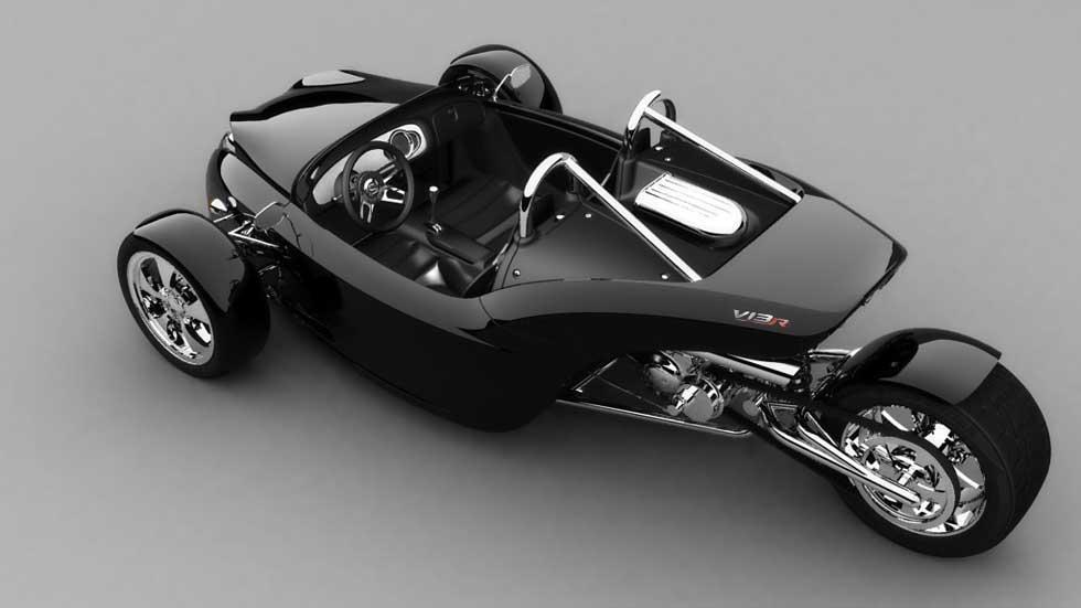 Campagna V13R: un triciclo atómico con motor de Harley Davidson