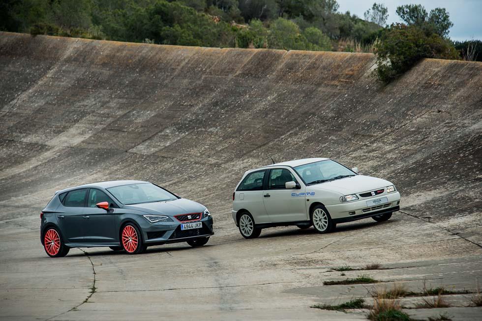 Los coches de la gama deportiva Seat Cupra cumplen 20 años