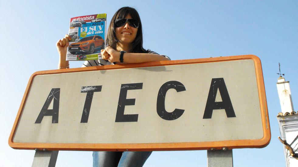 El pueblo de Ateca se vuelca con su coche: el Seat Ateca