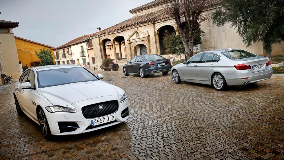Audi A6, BMW Serie 5 y Jaguar XF: tres berlinas muy premium