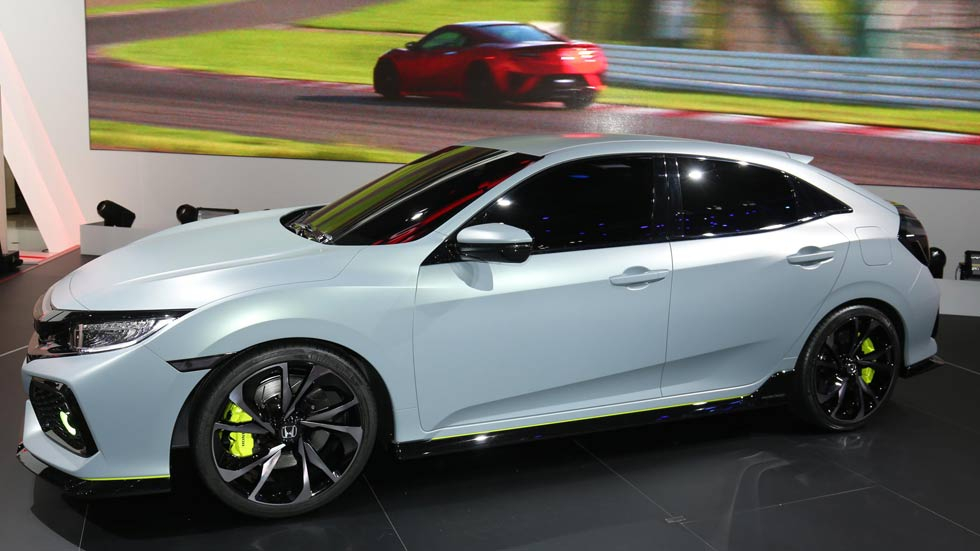Honda Civic Hatchback Prototype: el Civic 2017, en Ginebra