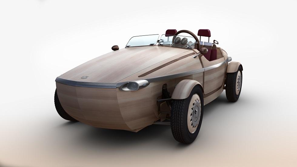 Toyota Setsuna, un coche de madera biplaza y eléctrico