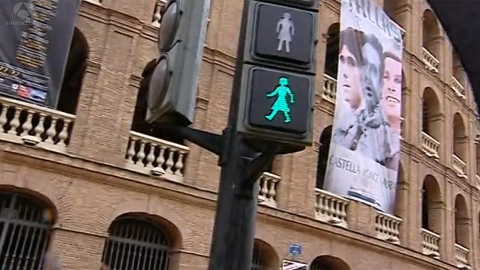 ¿Semáforos feministas en la ciudad de Valencia?
