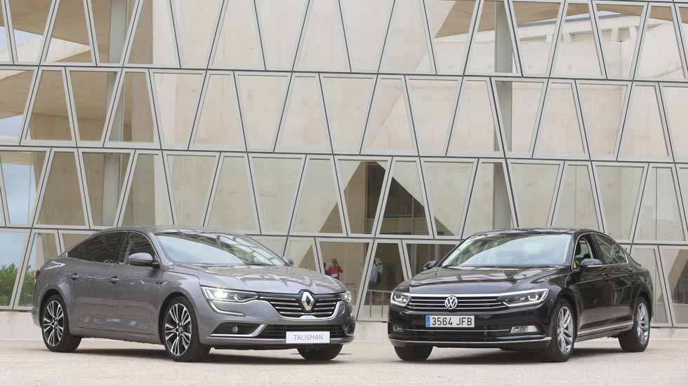 Renault Talisman 1.6 dCi/160 y VW Passat 2.0 TDi/150: duelo en 10 claves