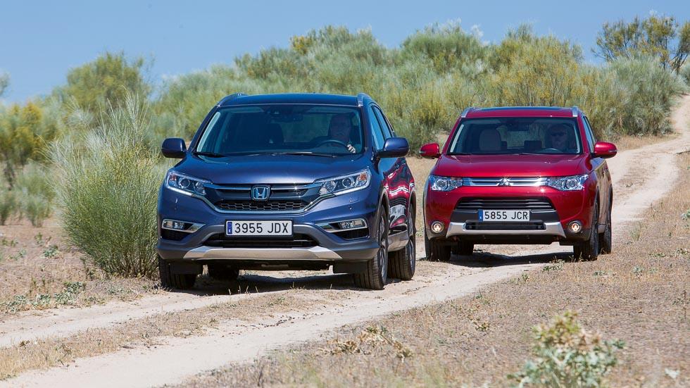 Honda CR-V 1.6 i-DTEC y Mitsubishi Outlander 2.2 DI-D: equilibrio SUV