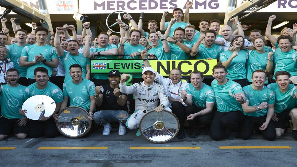 GP Australia F1: Doblete de Mercedes y victoria de Rosberg