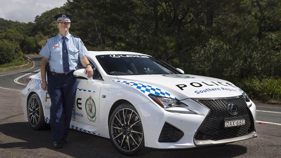 Lexus RC F, el nuevo coche de la policía australiana