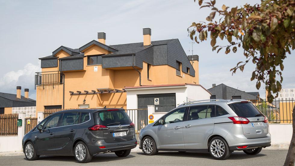 Ford Grand C-Max y Opel Zafira Tourer: monovolúmenes a prueba