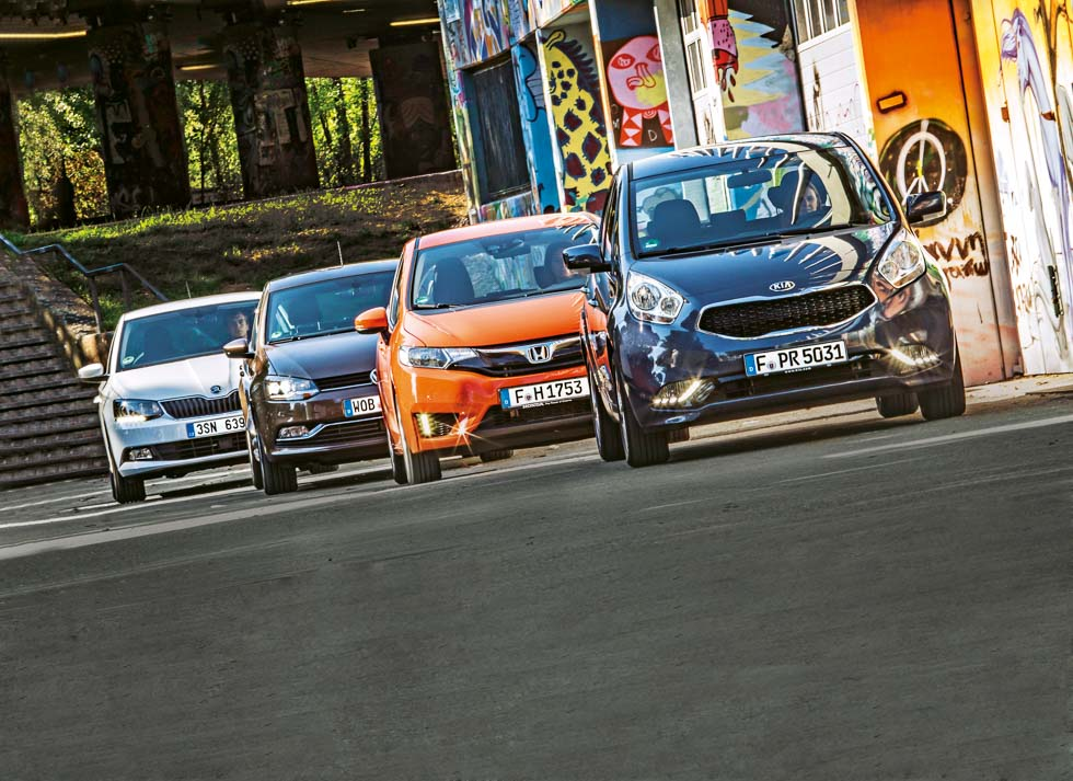 Comparativa: VW Polo, Skoda Fabia Combi, Honda Jazz y Kia Venga