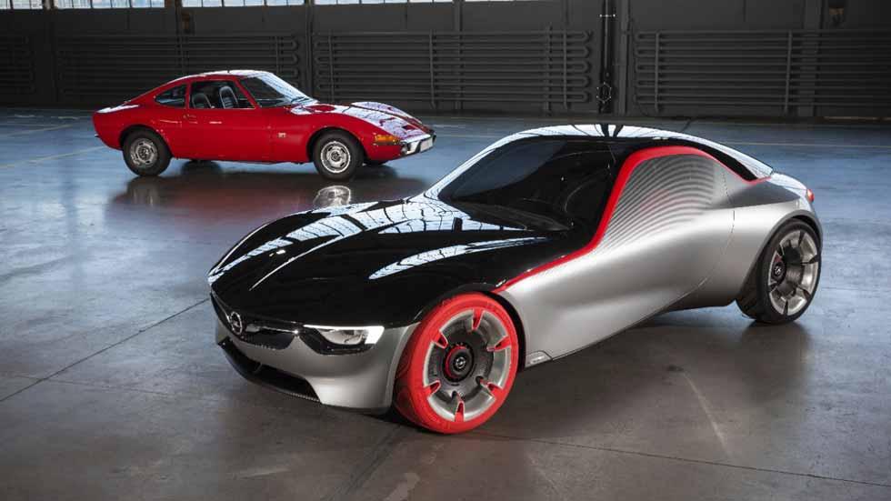 Opel GT Concept y Opel GT clásico, juntos en Essen