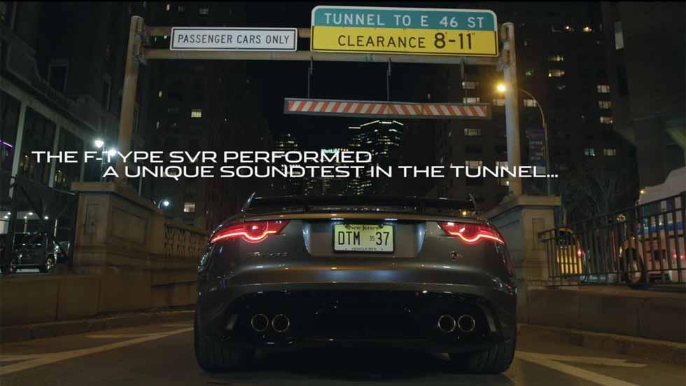 Así suena el Jaguar F-Type SVR en un túnel de Nueva York (vídeo)