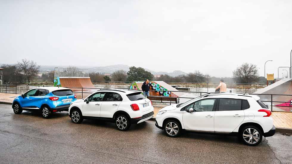 Fiat 500X, Peugeot 2008, Renault Captur: elige tu SUV urbano