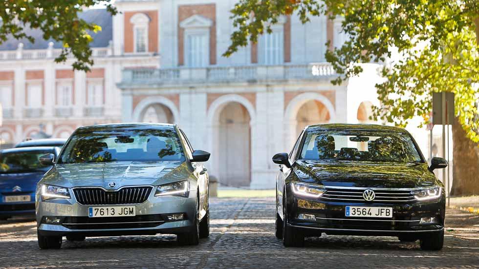 Skoda Superb y Volkswagen Passat 2.0 TDI 150, hermanos mayores