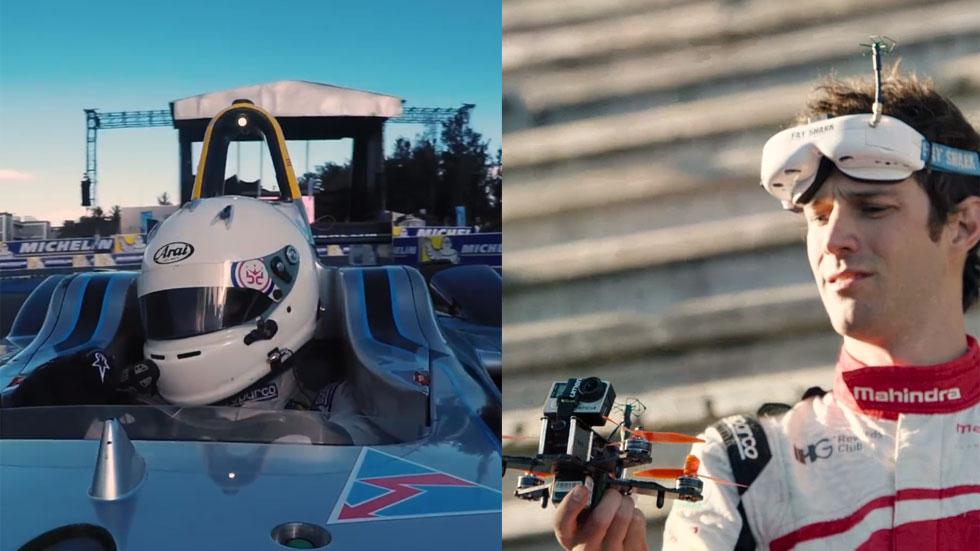 Duelo eléctrico: un dron dirigido por Bruno Senna se enfrenta a un Formula E (vídeo)