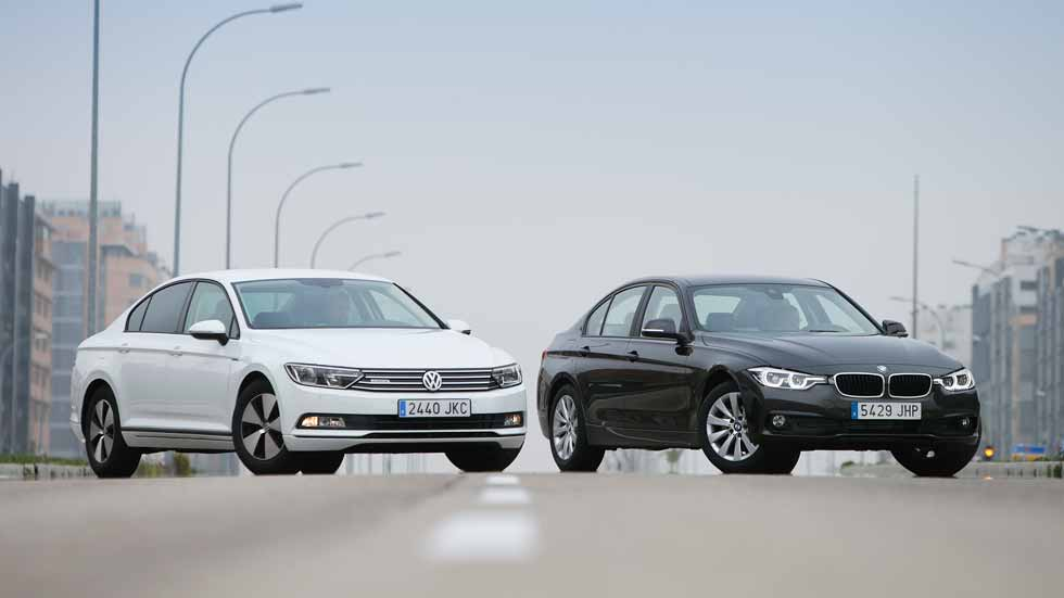BMW 316d vs VW Passat 1.6 TDI BlueMotion: mínimo consumo