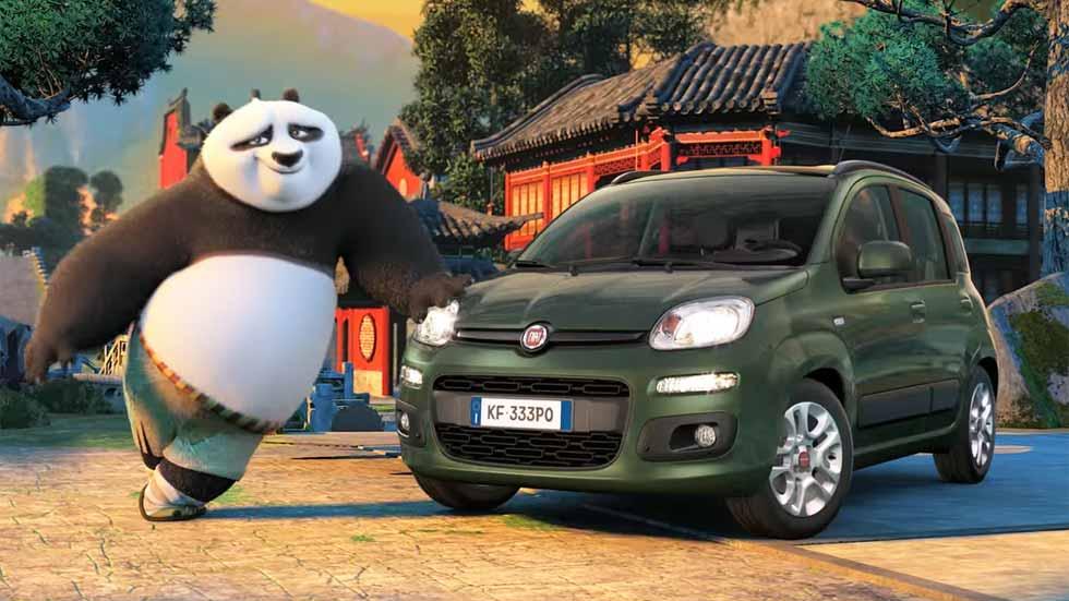 Kung Fu Panda 3 elige el Fiat Panda para conducir (vídeo y fotos)