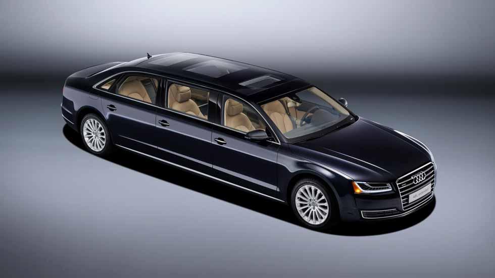 Audi A8 L extended, lujo extremo para 6 pasajeros