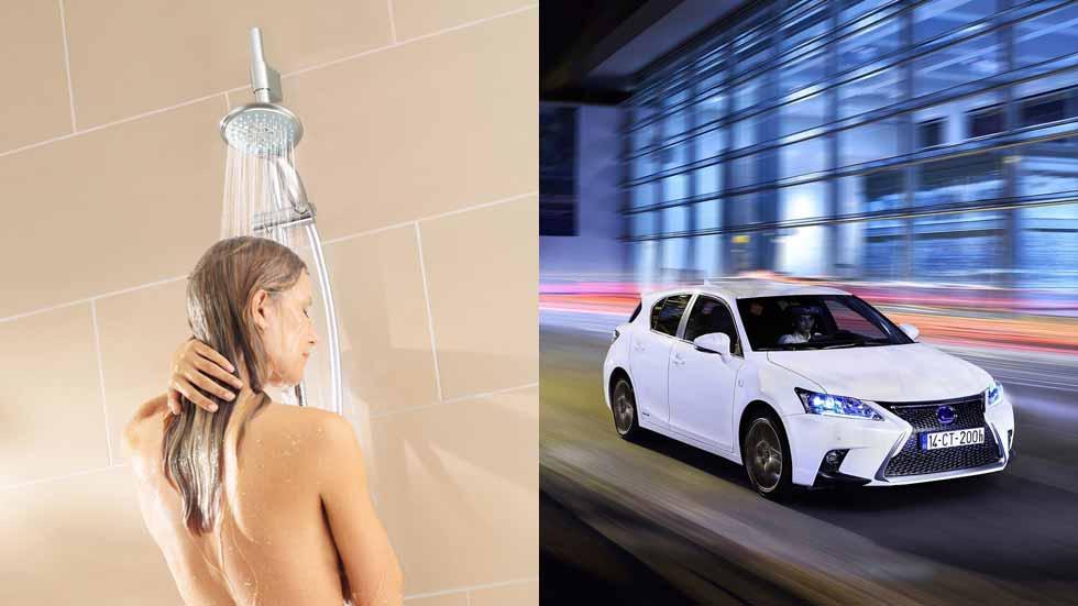 ¿Se gasta más en una ducha o en un desplazamiento en coche?
