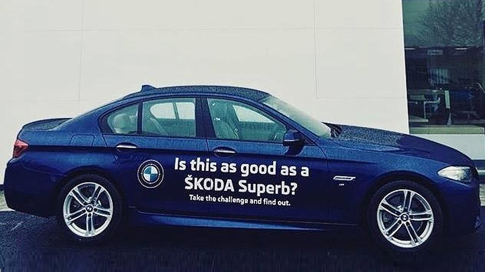 Te dejan un BMW Serie 5 para comprarte un Skoda Superb