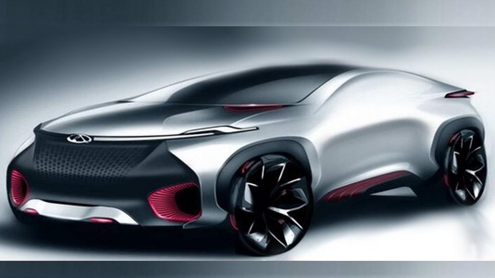 Chery y su concept coupé eléctrico en el Salón de Pekín