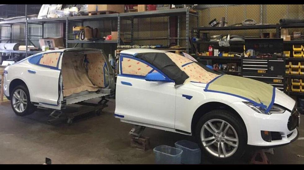 ¿Cómo convertir un Tesla Model S en limusina? (vídeo)