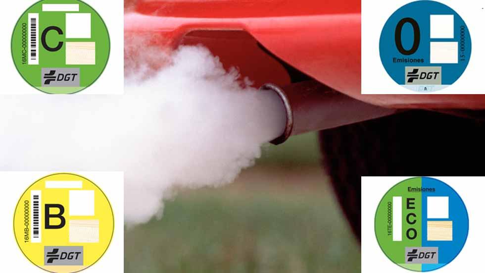 Etiquetas ecológicas: la DGT clasifica los coches por su contaminación