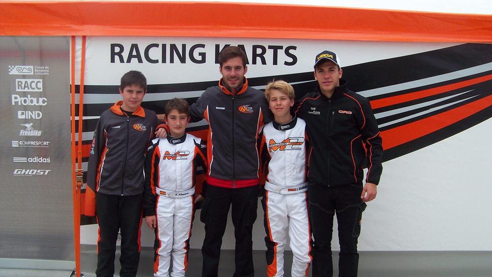 Así es el equipo de karting de Miguel Molina en el CEK
