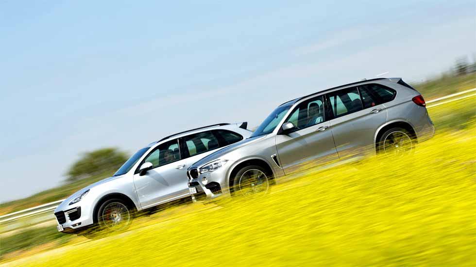 BMW X5 M y Porsche Cayenne Turbo: lucha de titanes SUV